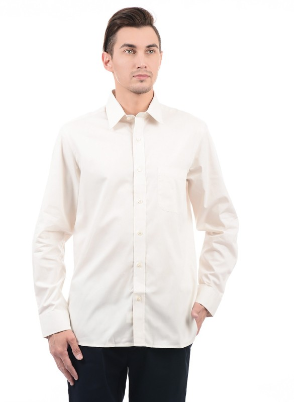 Arrow Men Solid Casual White Shirt