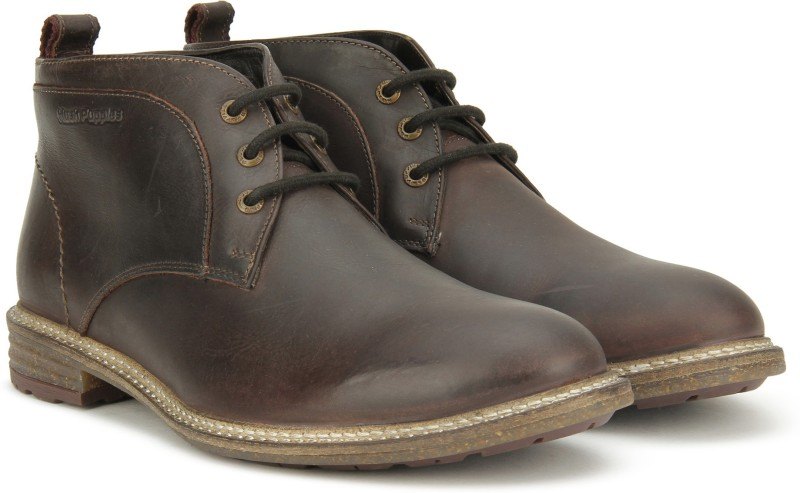 Hush Puppies APOLLO MID CUT Boots For Men(Brown)
