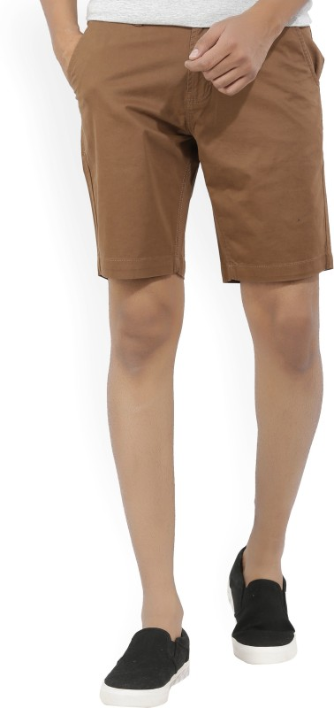Kenneth Cole Solid Mens Brown Chino Shorts