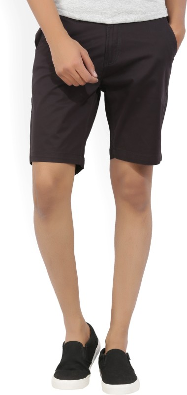 Kenneth Cole Solid Mens Black Chino Shorts