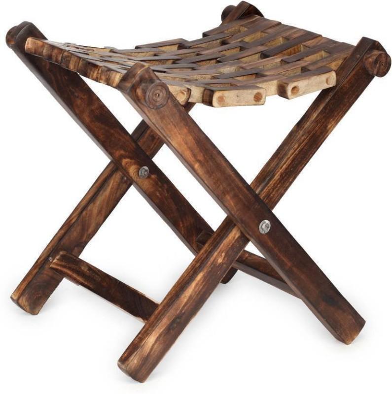 CraftOnline new stackble stool Living & Bedroom Stool(Brown)