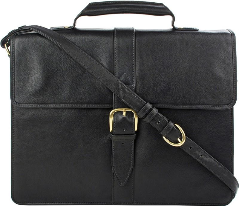 Hidesign SB BENNETT 1-REGULAR-BLACK Medium Briefcase - For Men(Black)