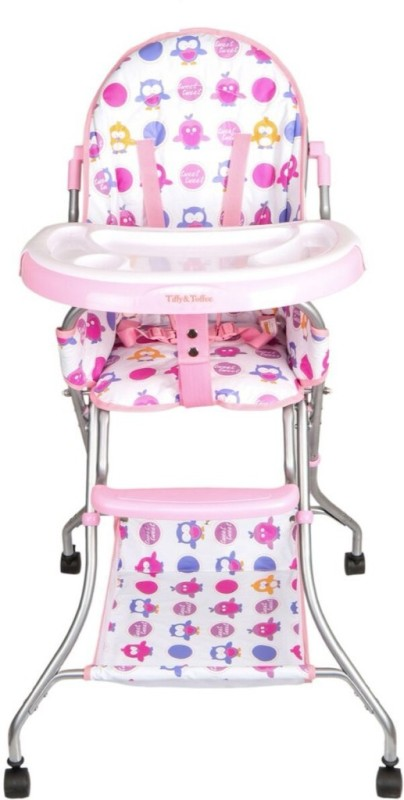 Tiffy & Toffee Baby Etiquette High Chair(White, Pink)