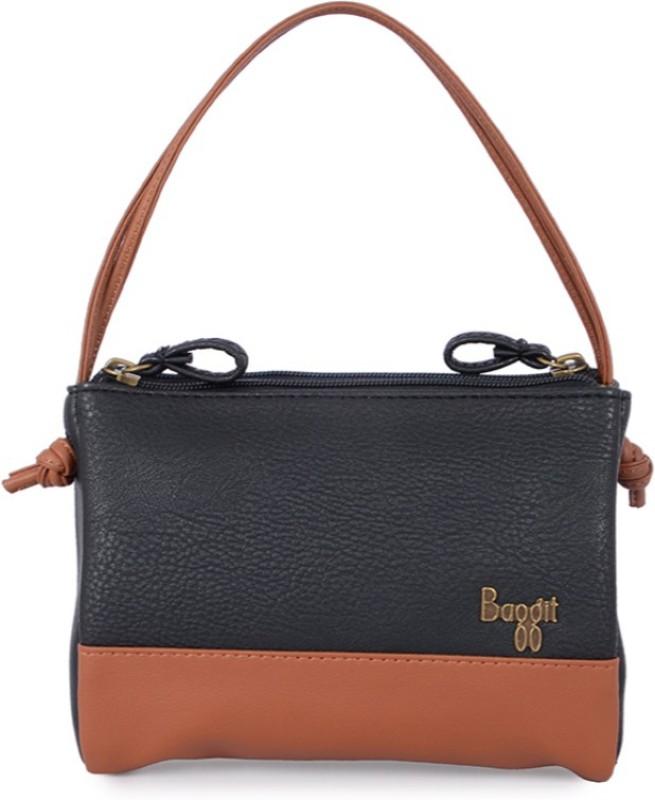 Baggit Hand-held Bag(Black, Tan)
