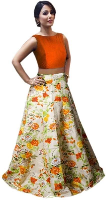 F Plus Fashion Printed Women's(Orange, Size: Free)