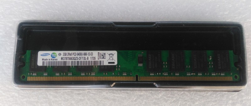 Samsung Original DDR2 2 GB (Single Channel) PC (DDR2 2GB DESKTOP RAM)(Green)