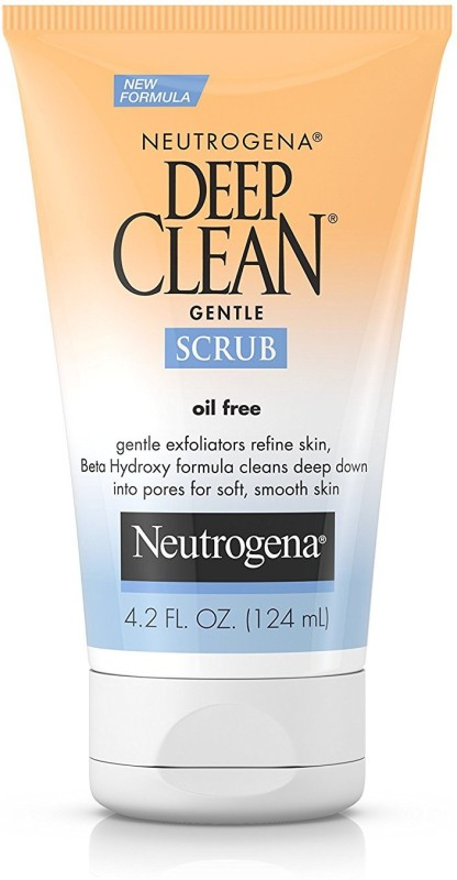 Neutrogena Deep Clean Gentle Daily Facial Scrub,Oil-Free Cleanser Scrub(124 ml)