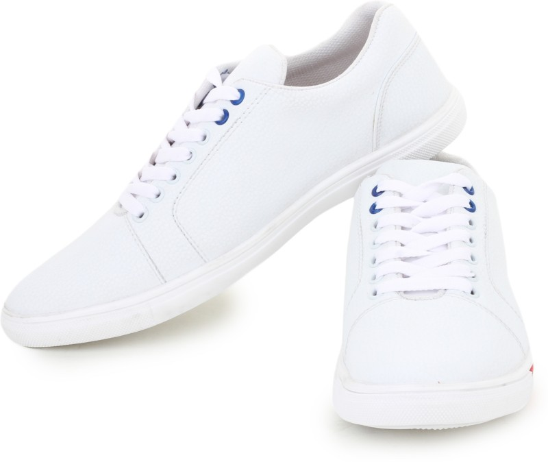 D-SNEAKERZ Casual , Partywear Sneakers Shoes For Men's And Boys White Color Party Wear For Men(White)