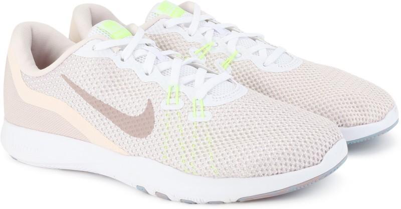 Nike W NIKE FLEX TRAINER 7 Training & Gym Shoes For Women(White, Pink)