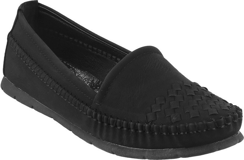 Mochi Awesome Loafers For Women(Black)