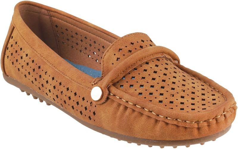 Mochi Awesome Mocassin For Women(Tan)