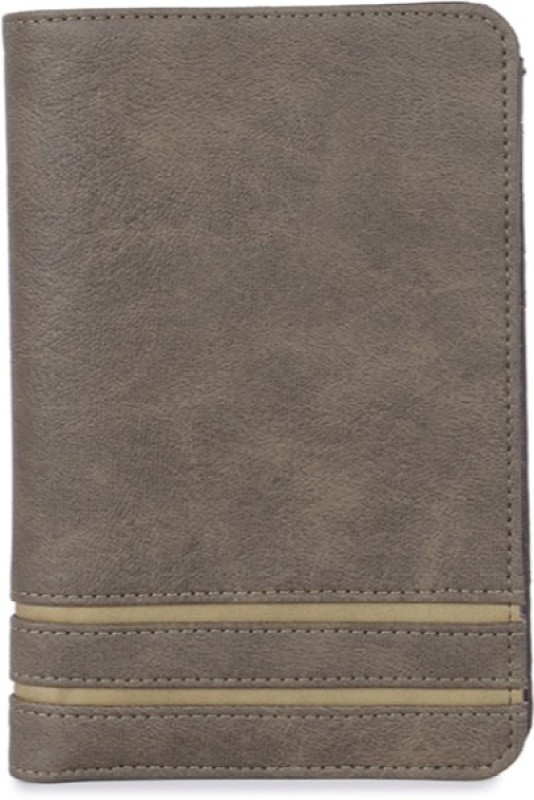 Baggit Men Grey Artificial Leather Wallet(6 Card Slots)