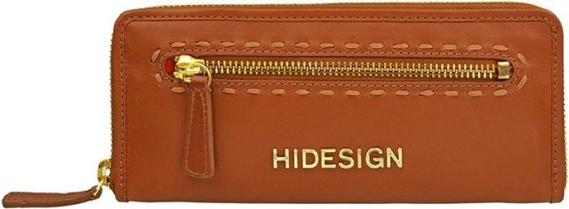 Hidesign Women Tan Genuine Leather Wallet(8 Card Slots)