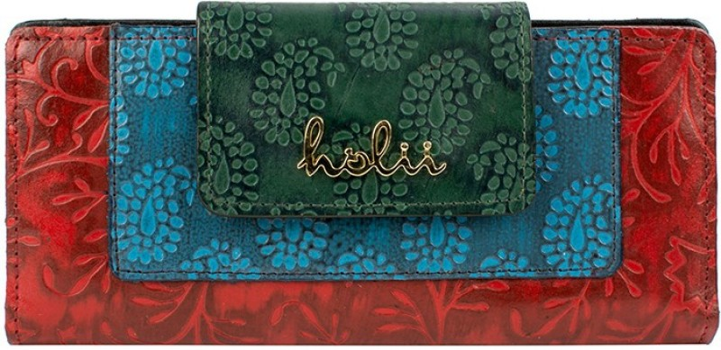 Holii Women Multicolor Genuine Leather Wallet(8 Card Slots)