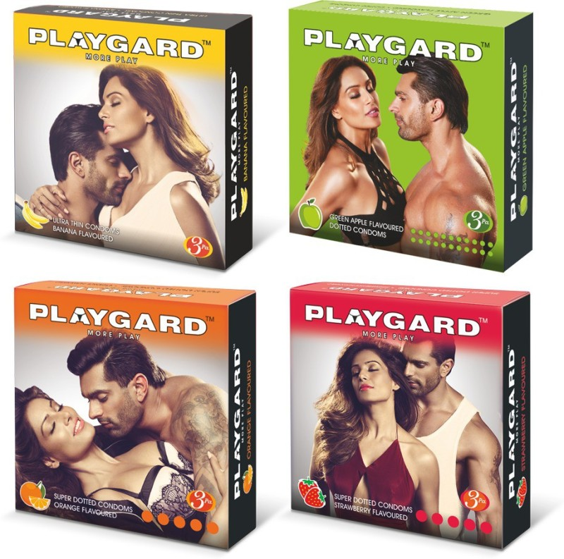 PLAYGARD Fruit Basket PassionRaja.com Combo (3s x 4 Pack = 12 Condoms) Condom(Set of 4, 12S)
