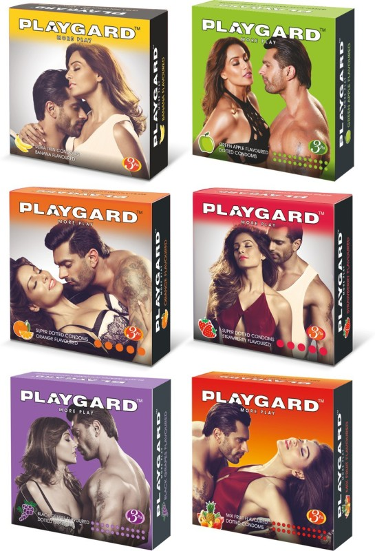 PLAYGARD All Fruits PassionRaja.com Mix Combo (3s x 6 Pack = 18 Condoms) Condom(Set of 6, 18S)