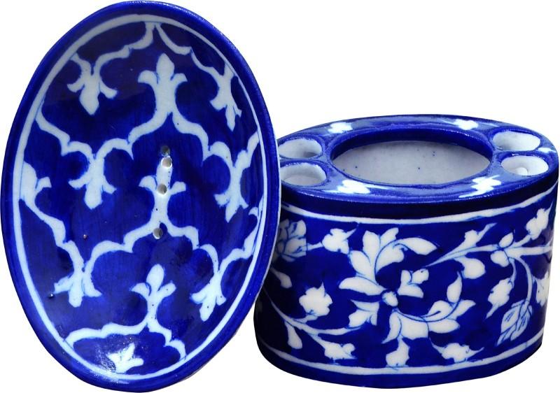 om craft villa Ceramic Bathroom Set(Pack of 2)