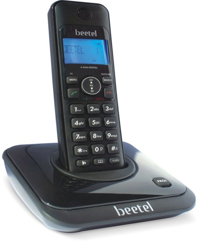 Beetel X-63-0026 Cordless Landline Phone(Black)