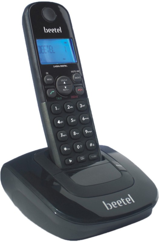 Beetel X-66-0027 Cordless Landline Phone(Black)