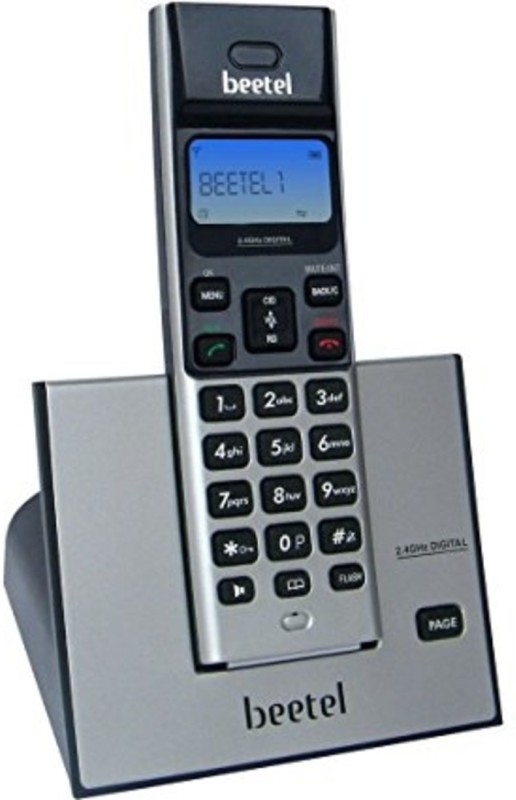 Beetel X-62-0025 Cordless Landline Phone(Silver)