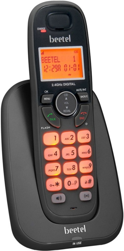 Beetel X-70-0029 Cordless Landline Phone(Black)