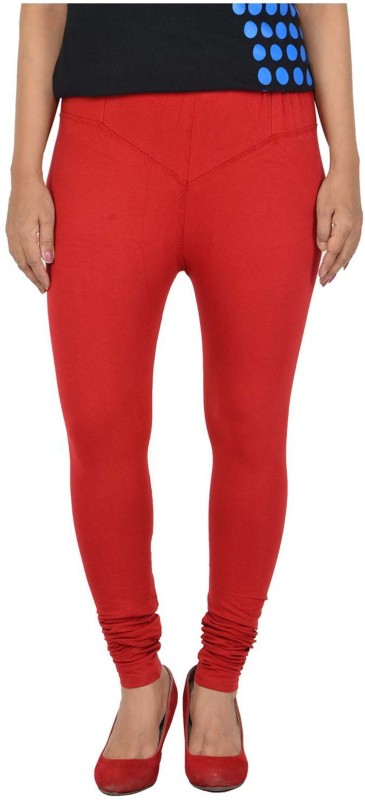 parivasu Legging(Red, Solid)