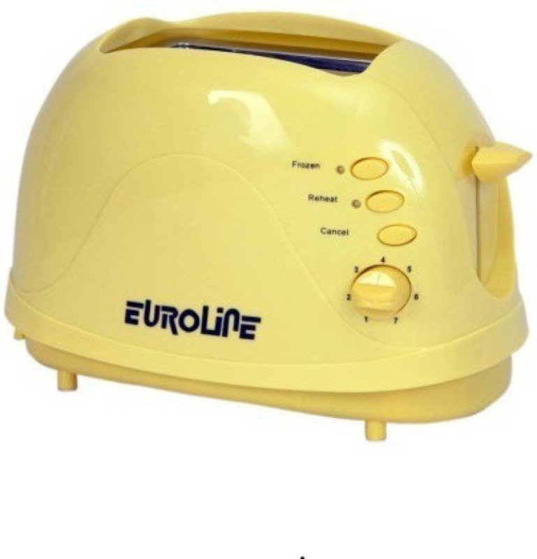 EUROLINE EL-820 TOASTER 750 W Pop Up Toaster(Yellow)