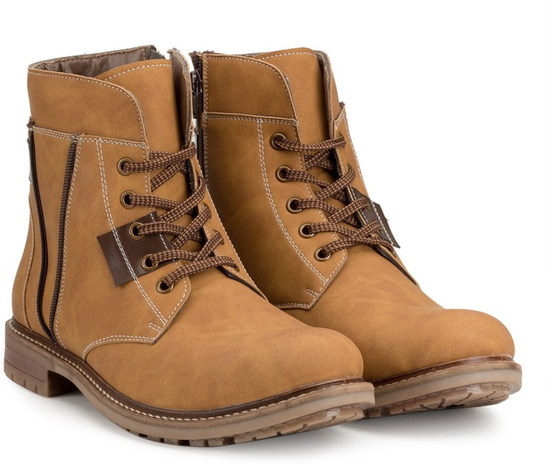 Escaro ES2115BK_Tan_7 Boots For Men(Tan)