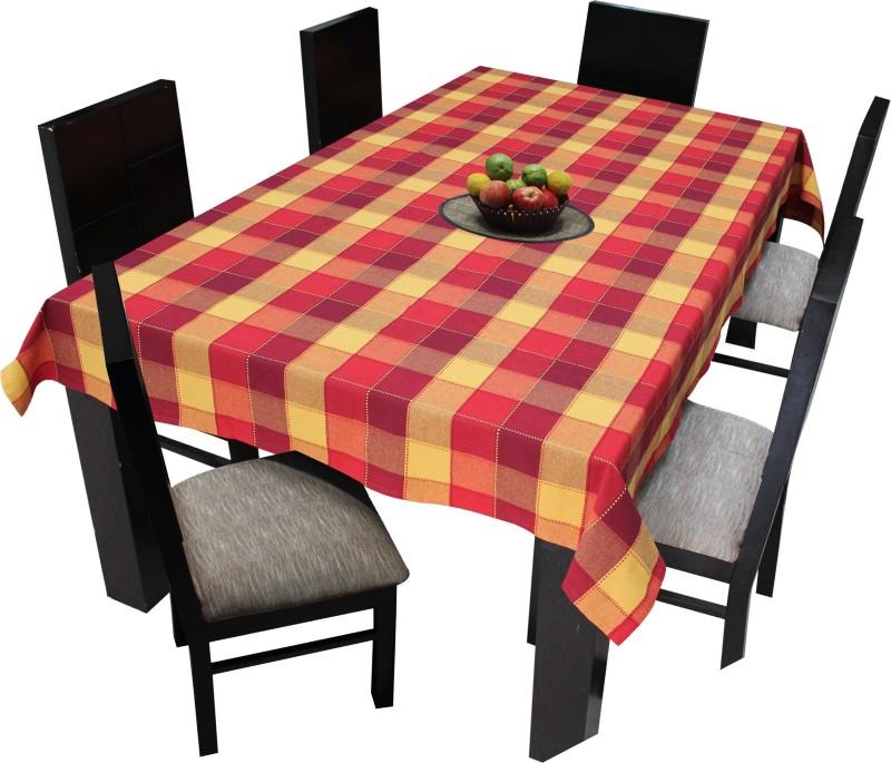 Airwill Self Design 6 Seater Table Cover(Multicolor, Cotton)