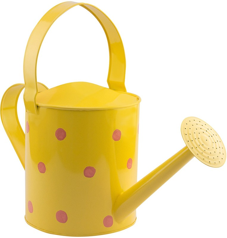 NUHA Polka Dots Watering Can 5 L Water Cane(Yellow, Pack of 1)