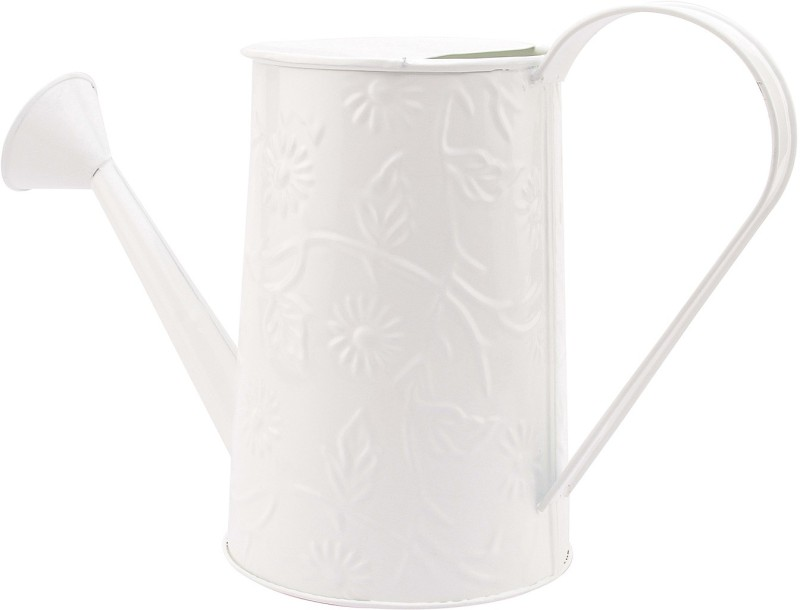 NUHA 2 Liters Embosses Design Watering Can 2 L Water Cane(White, Pack of 1)
