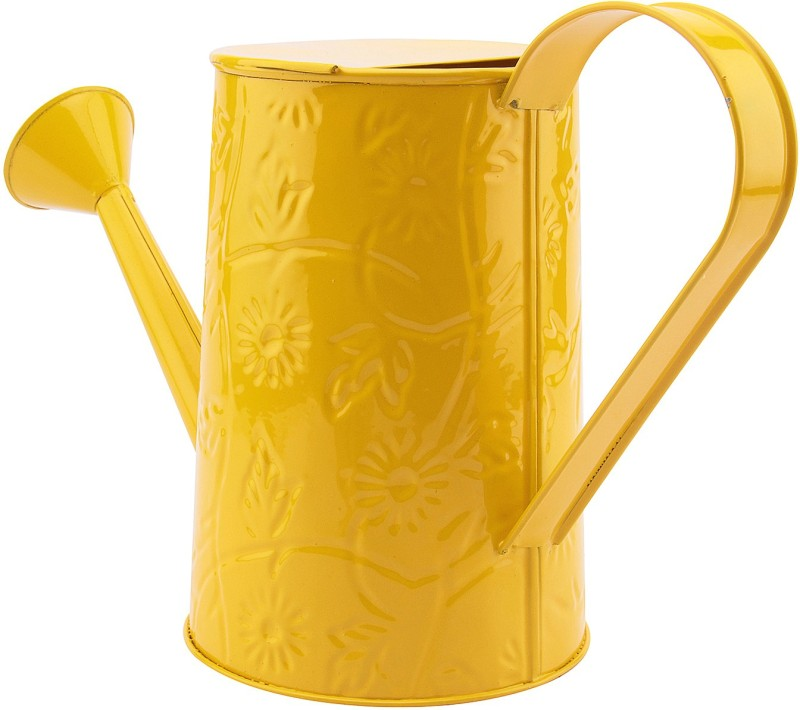 NUHA 2 Liters Embosses Design Watering Can 2 L Water Cane(Yellow, Pack of 1)