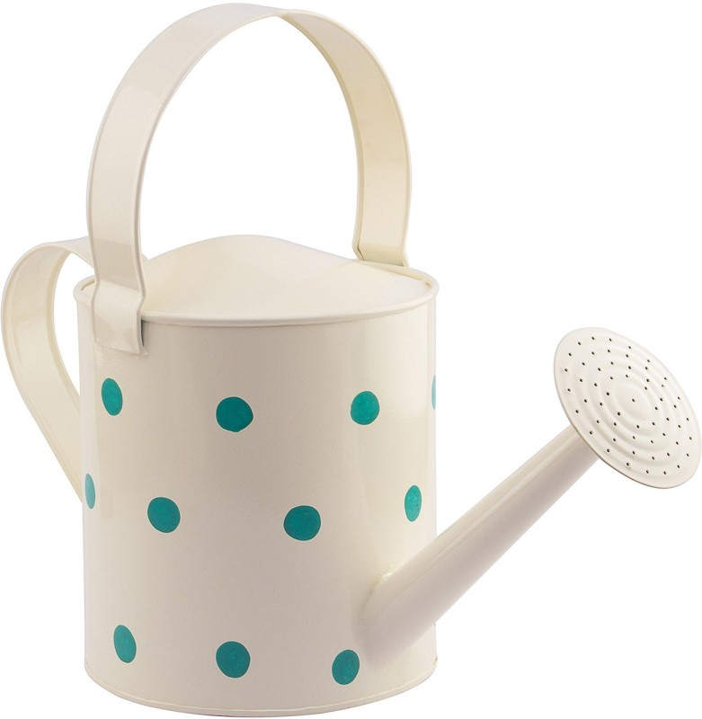 NUHA Polka Dots Watering Can 5 L Water Cane(White, Pack of 1)