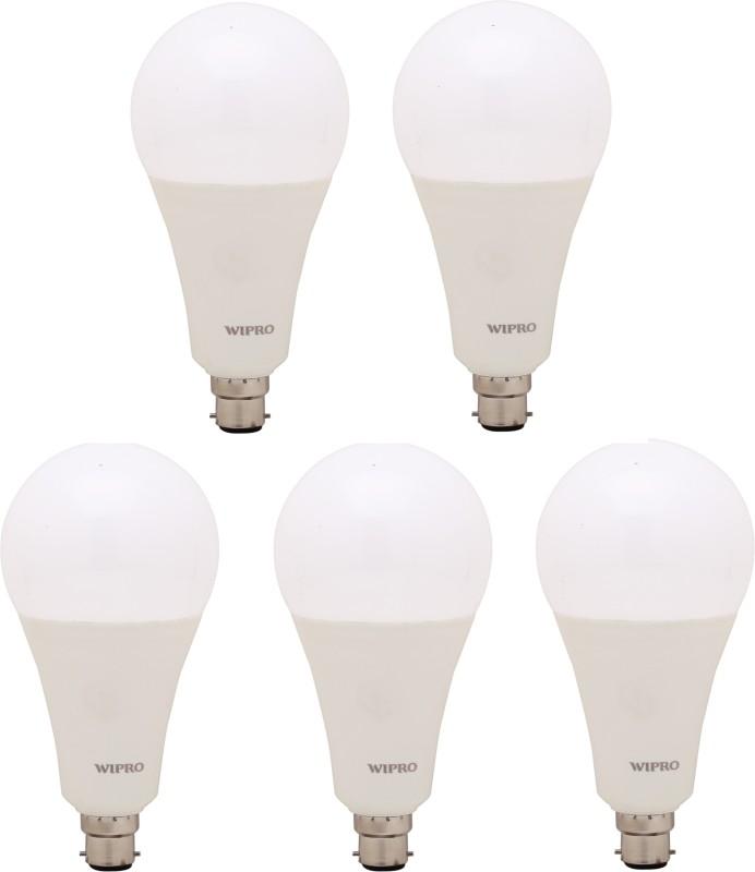 WIPRO 23 W Standard B22 LED Bulb(White, Pack of 5)