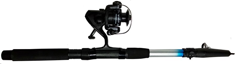 Guru Kripa FISHING ROD REEL BLACK - 1H FSH -178 Silver Fishing Rod(228 cm, 0.178, Silver)