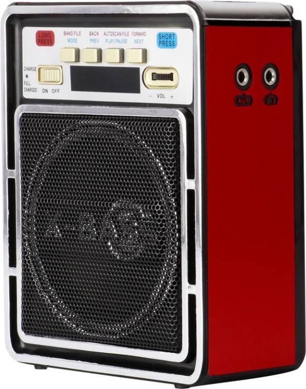 CRETO Latest fm radio SL-826FM Support usb pendrive, aux , memory card, bluetooth, headphone. FM Radio(Red)