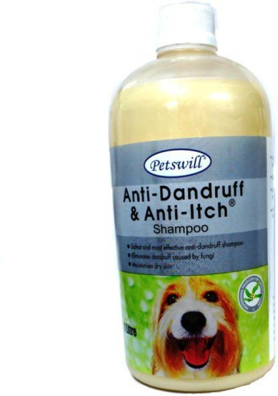 Petswill Petswill Anti-Dandruff & Anti Itch Shampoo For Dog & Cat (1 Ltr) Anti-dandruff Natural Dog Shampoo(1 L)