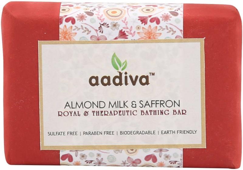 Aadiva Almond Milk & SaffronExotic Soap(100 g)