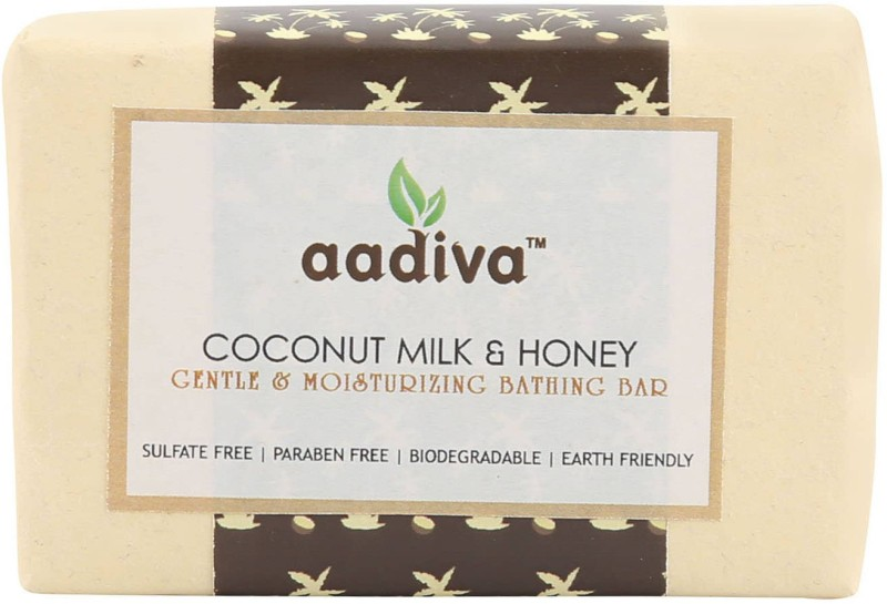 Aadiva Coconut Milk & Honey Herbal Soap for Soft Skin - 100 gms(100 g)