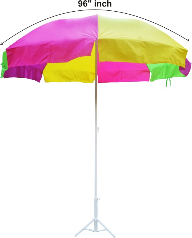 Fendo 48 Neon Color Outdoor Umbrella Sun Protection Garden Umbrella(Multicolor)