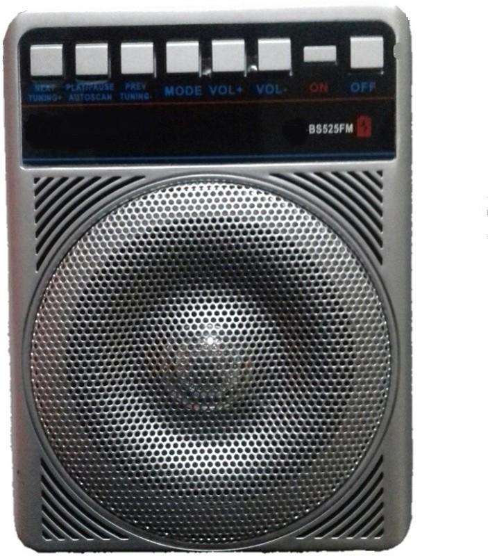 CRETO latest fm radio sl 525 fm supports aux, usb pendrive, headphone, memory card bluetooth FM Radio(Silver, Black)