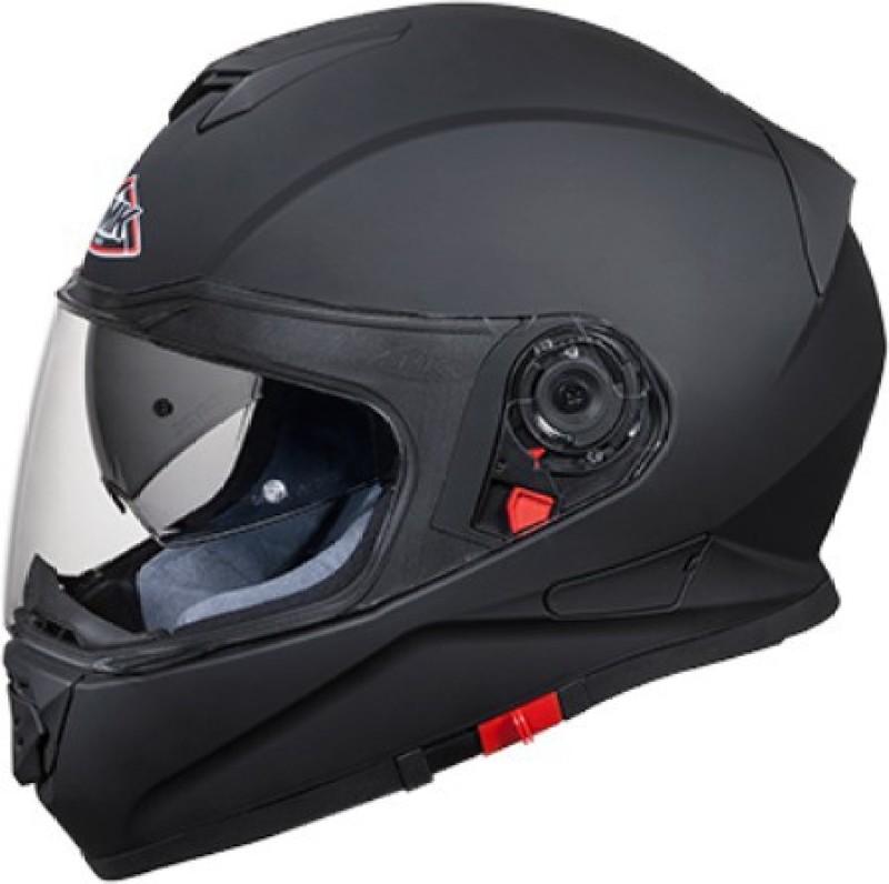 SMK MA200 Twister Pinlock Fitted Full Face Helmet with Clear Visor (Matt Black, L) Motorbike Helmet(Matt Black)