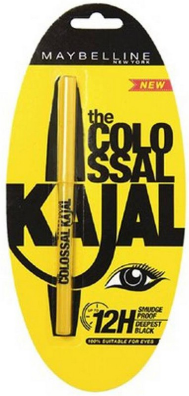 Maybelline Colossal Kajal Smudge Proof 0.35 g (Black) 0.35 ml(yellow)