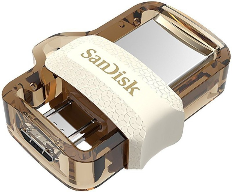 SanDisk SDDD3-032G-I35GW 32 GB OTG Drive(Gold, Type A to Micro USB)
