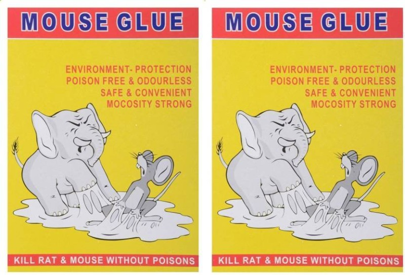 AKR Rat and Mouse Trap Rat Glue Mouse Insect Rodent Lizard Trap Rat Catcher Adhesive Sticky Glue Rat Pad Mouse Glue (set of 2) Live Trap