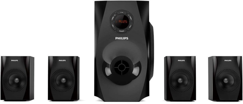 Philips SPA8150B/94 70 W Bluetooth Home Audio Speaker(Black, 4.1 Channel)