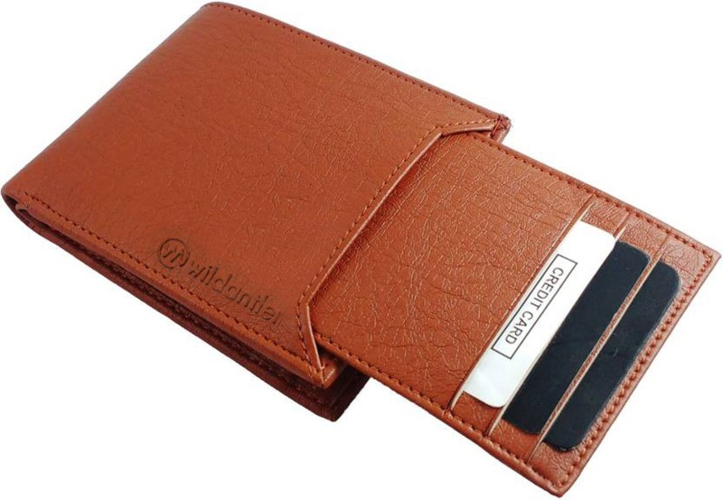 Wildantler Men Tan Artificial Leather Wallet(6 Card Slots)