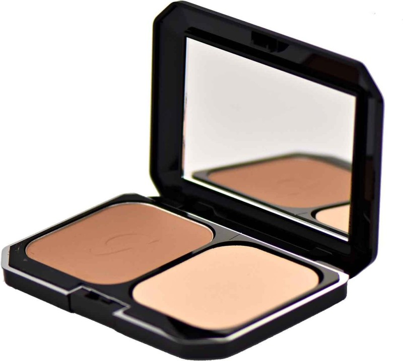 GlamGals 2 in 1 Two Way Cake Compact Makeup + Foundation SPF 15,12g (Brown) Compact - 12 g(Brown)