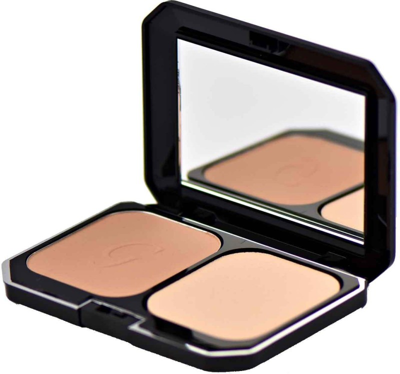 Glamgals 2 in 1 Two Way Cake Compact Makeup + Foundation SPF 15,12 g (Earth Glow) Compact - 12 g(Beige)