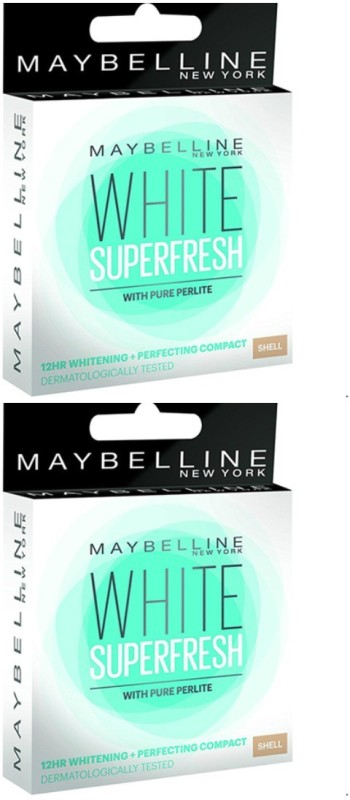 Maybelline New York White Super Fresh Shell, (Pack Of 2) Compact(Shell)
